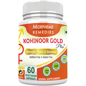 Buy Morpheme Kohinoor Gold Plus 500mg Extracts - 60 Veg Caps. - Nykaa