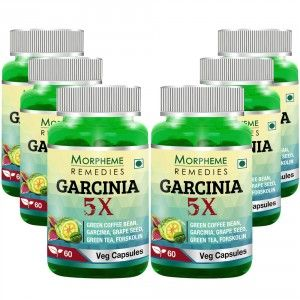 Buy Morpheme Remedies Garcinia 5X - Garcinia, Coffee, Green Tea, Forskolin, Grape Seed - 6 Bottles - Nykaa