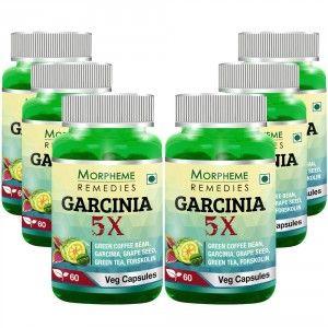 Buy Morpheme Remedies Garcinia 5X - Garcinia, Coffee, Green Tea, Forskolin, Grape Seed - 6 Bottles - Nykaa