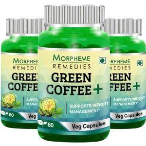 Buy Morpheme Remedies Green Coffee+ (Pack of 3) - Nykaa