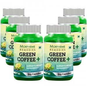 Buy Morpheme Remedies Green Coffee+ Weight Management Capsule(Pack of 6) - Nykaa