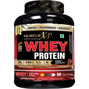 Buy MuscleXP 100% Whey Protein, Double Rich Chocolate - The New Whey Standards - 2Kg (4.4 lbs) - Nykaa