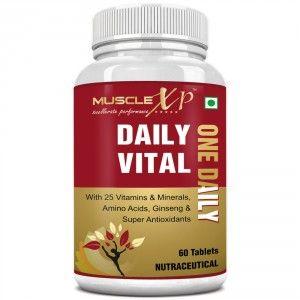 Buy MuscleXP Daily Vital (One Daily) Multi Vitamin - 60 Tablets - Nykaa