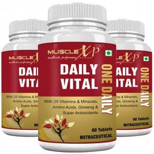 Buy MuscleXP Daily Vital (One Daily) Multi Vitamin - 60 Tablets (Pack of 3) - Nykaa