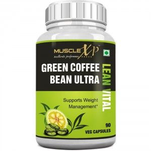 Buy MuscleXP Green Coffee Bean Ultra Lean Vital Capsule (With Garcinia & Green Tea) - Nykaa