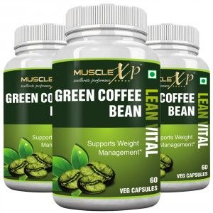 Buy MuscleXP Green Coffee Bean Lean Vital Capsule (Pack Of 3) - Nykaa