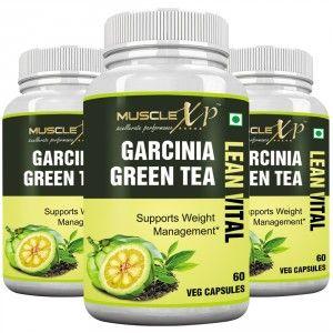 Buy MuscleXP Garcinia Green Tea Lean Vital Capsule (Pack Of 3) - Nykaa