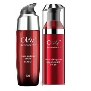 Buy Olay Regenerist Micro-Sculpting SPF30 Cream + Serum Regime - Nykaa