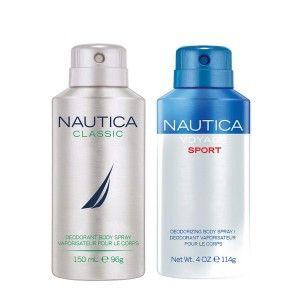 Buy Nautica Voyage Sport & Classic Deodorant Pack of 2 - Nykaa