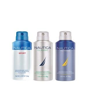 Buy Nautica Classic, Voyage & Voyage Sports Deodorant Pack Of 3 - Nykaa