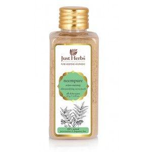 Buy Just Herbs Neempure Arjun–Nutmeg Skin Purifying Neem Pack - Nykaa