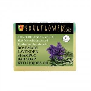 Buy Soulflower Rosemary Lavender Shampoo Bar Soap With Jojoba Oil - Nykaa