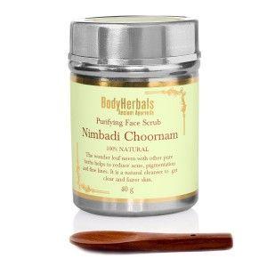 Buy BodyHerbals Ancient Ayurveda Nimbadi Choornam Purifying Face Scrub - Nykaa