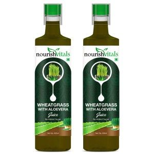 Buy Nourish Vitals WheatGrass With Aloe Vera Juice No Added Sugar - 2 Bottles - Nykaa