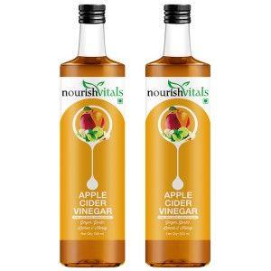 Buy Nourish Vitals Apple Cider Vinegar with Ginger, Garlic, Lemon and Honey x 2 Bottles - Nykaa