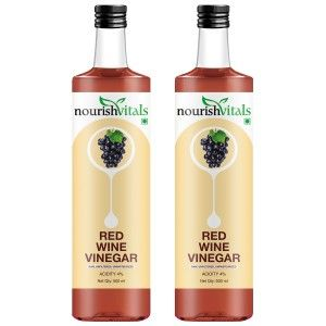Buy Nourish Vitals Red Wine Vinegar x 2 Bottles - Raw, Unfiltered & Undiluted - Nykaa