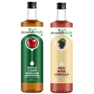Buy Nourish Vitals Apple Cider Vinegar + Red Wine Vinegar - Nykaa
