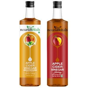 Buy Nourish Vitals Apple Cider Vinegar With Honey + Apple Cider Vinegar with Ginger, Garlic, Lemon and Honey - Nykaa