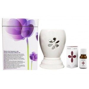 Buy Aroma Treasures Electric Diffuser - White + Lavender Oil - Nykaa
