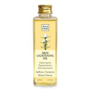 Buy AuraVedic Skin Lightening Oil with Saffron Turmeric Winter Cherry - Nykaa