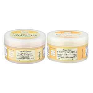 Buy Auravedic Skin Lightening Mask + Sandal Polish - Nykaa