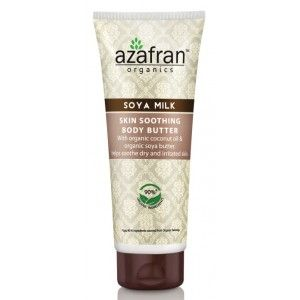 Buy Azafran Organics Soya Milk Skin Soothing Body Butter - Nykaa