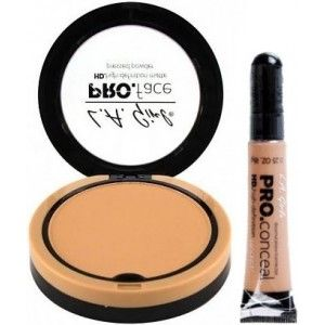 Buy L.A. Girl HD PRO Face Pressed Powder - Soft Honey +  Pro Conceal HD - Warm Sand - Nykaa