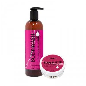 Buy Delon Macadamia Oil Skincare Body Wash + Butter Combo - Nykaa