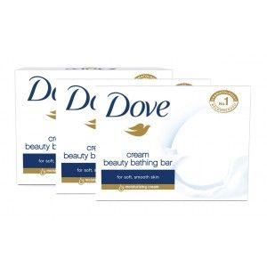 Buy Dove Cream Beauty Bathing Bar Combo Pack of 3 - Nykaa