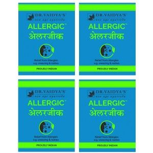 Buy Dr. Vaidya's Allergic Relief Pills For Allergies (Pack Of 4) - Nykaa