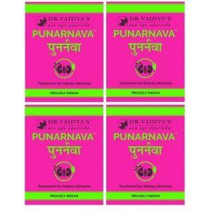 Buy Dr. Vaidya's Punarnava Pills For Kidney Ailment (Pack Of 4) - Nykaa
