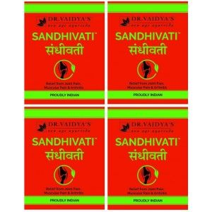 Buy Dr. Vaidya's Sandhivati Pills For Joint Pain, Muscular Pain & Arthritis (Pack Of 4) - Nykaa