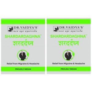 Buy Dr. Vaidya's Shardardaghna Pills For Migraine & Headache (Pack Of 2) - Nykaa