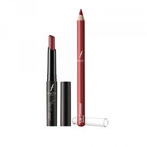 Buy Faces Ultime Pro Longwear Matte Lipstick - Ruby Ruby 23 + Lip Contour - Maroon - Nykaa