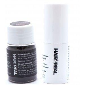 Buy Hair4Real Thickening Fiber Black + Hair Spray - Nykaa