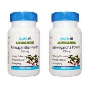 Buy Healthvit Ashwagandha Powder 250mg (Pack of 2) - Nykaa