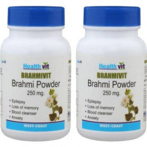 Buy HealthVit Brahmivit Brahmi Powder 250 mg (60 Caps) - Nykaa