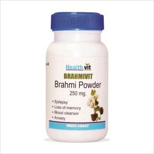 Buy HealthVit Brahmivit Brahmi Powder 250 mg (60 Caps) - Nykaa