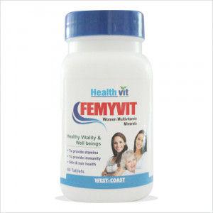 Buy HealthVit Femyvit Women Multivitamin Minerals (60 Tablets) - Nykaa