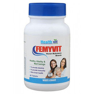 Buy HealthVit Femyvit Women Multivitamin Minerals (60 Tablets) - Nykaa