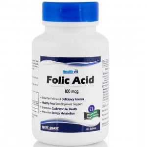 Buy HealthVit Folic Acid 5mg 60 Tablets for Cardiac Care - Nykaa