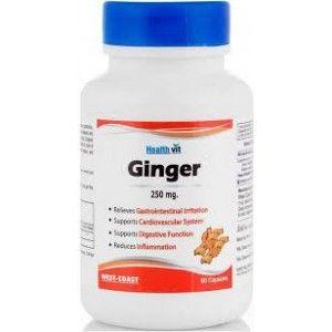 Buy HealthVit Ginger Powder 250 mg (60 Caps) - Nykaa