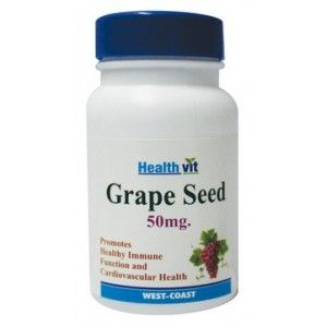 Buy HealthVit Grape Seed 50 mg Immunity Booster 60 Capsules - Nykaa