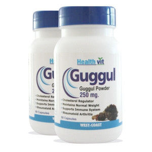 Buy HealthVit Guggul Powder For Weight Management 250mg (Pack of 2) - Nykaa