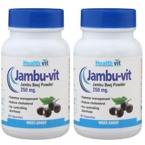 Buy HealthVit JAMBU-VIT Jambo Beej Powder 250mg (Pack of 2) - Nykaa