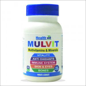 Buy HealthVit Mulvit Multivitamins And Minerals (60 Tablets) - Nykaa