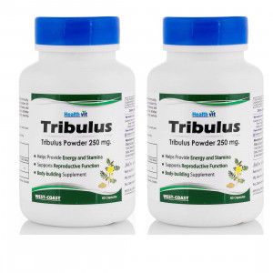 Buy Healthvit Tribulus Powder 250mg (Pack of 2) - Nykaa