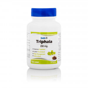 Buy Healthvit Trifala Triphala Powder 250mg (60 Caps) - Nykaa