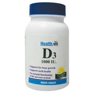 Buy Healthvit Vitamin D3 1000IU (30 Tablets) - Nykaa