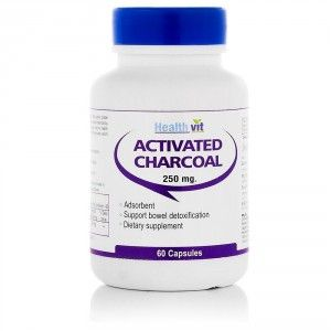 Buy Healthvit Activated Charcoal - 60 Capsules - Nykaa